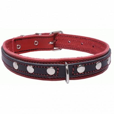 San Dimas Cuero Doble Rojo y Negro 92229