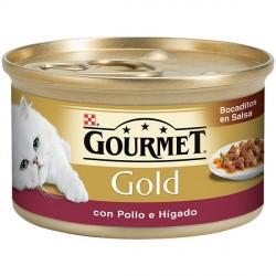 Gourmet Gold Bocaditos en Salsa con Pollo e Higado 85 gr