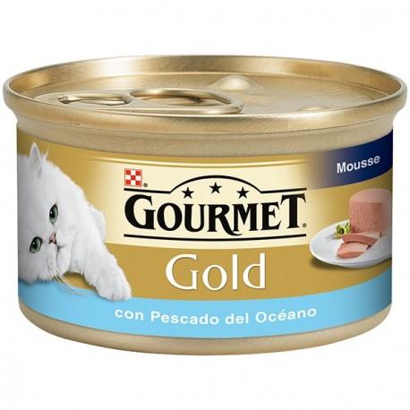 Gourmet Gold Mousse con Pescado del Oceano 85 gr