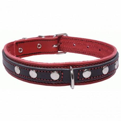 San Dimas Cuero Doble Rojo y Negro 92217