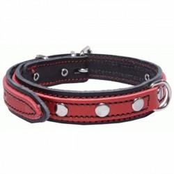 Cuero Doble Negro y Rojo 92215