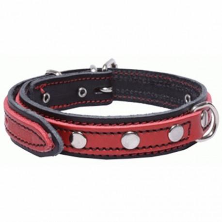 San Dimas Cuero Doble Negro y Rojo 92215