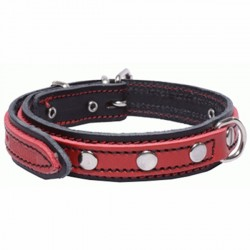 San Dimas Cuero Doble Negro y Rojo 92227