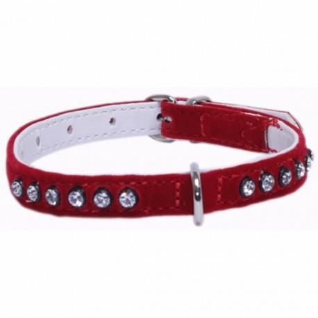 Collar Velvet Rojo 92489